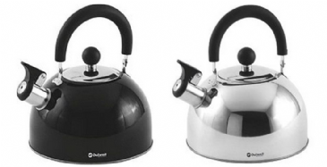 Outwell TEA BREAK KETTLE 1.8LTR - Stainless-steel & Black